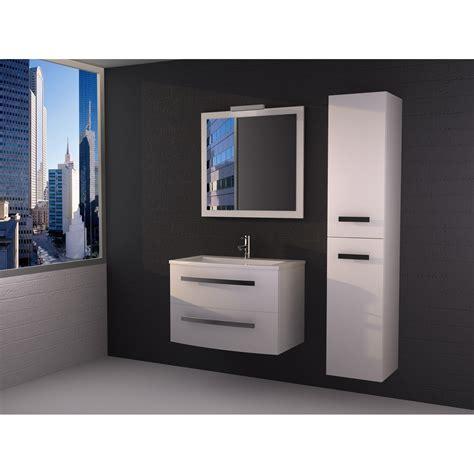 meuble de salle de bains de 80 224 99 blanc perla leroy merlin