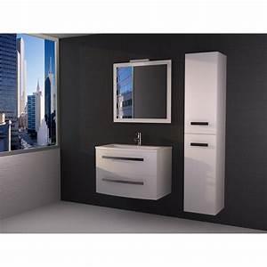 meuble de salle de bains de 80 a 99 blanc perla leroy With porte d entrée alu avec meuble salle de bain 100 cm blanc