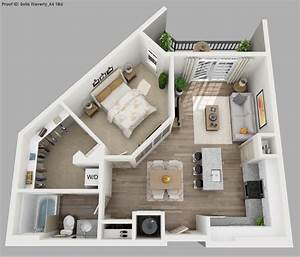 image result for 3d 1 bedroom floor plans for an apartment With studio apartment floor plans 3d