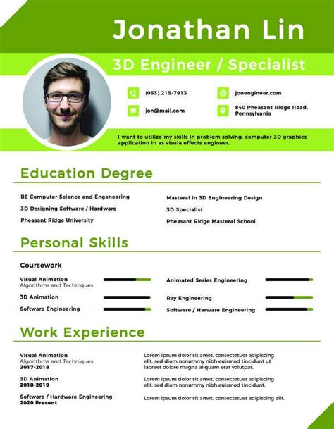 ©thebalance 2018 download the word template. 15+ College Resume Templates - PDF, DOC | Free & Premium Templates