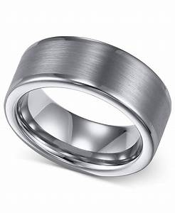 macy39s triton men39s tungsten ring 8mm wedding band in With macys mens wedding rings