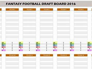 Fantasy football 2016 draft board my excel templates for Fantasy football draft board template