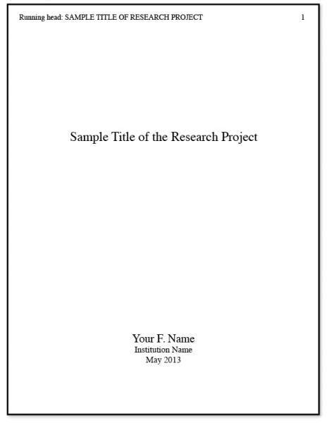 Apa Title Page Free Chlain College Publishing Apa Title Page Free Chlain College Publishing