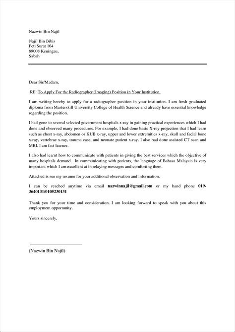 cover letter for resume malaysia exle cover letter