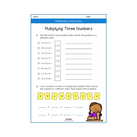 multiplication and division year 4 worksheets maths