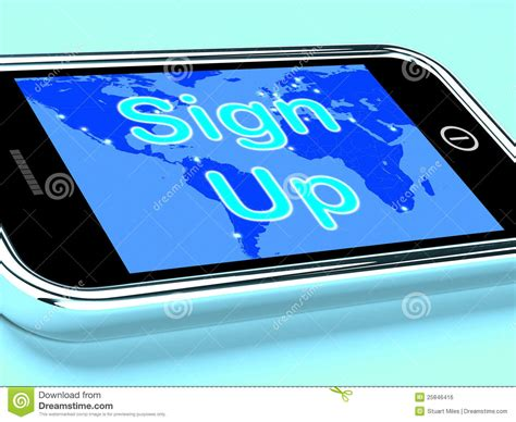 sign up mobile sign up mobile screen shows registration royalty