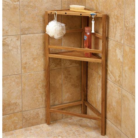 Teak Shower Shelving  From Sportys Preferred Living