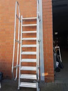 Leiter Mit Podest : leiter treppe zarges anlegeleiter m abn handlauf creaxess 10 stufen alu 1840 kategorie ~ Watch28wear.com Haus und Dekorationen