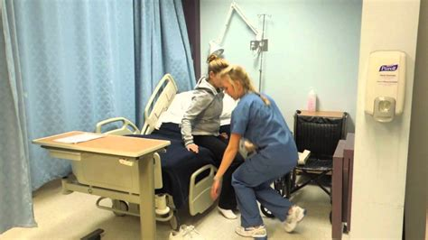 transferring patient from bed to wheelchair