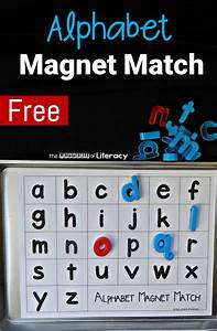 alphabet magnet match the letters of literacy With magnetic learning letters