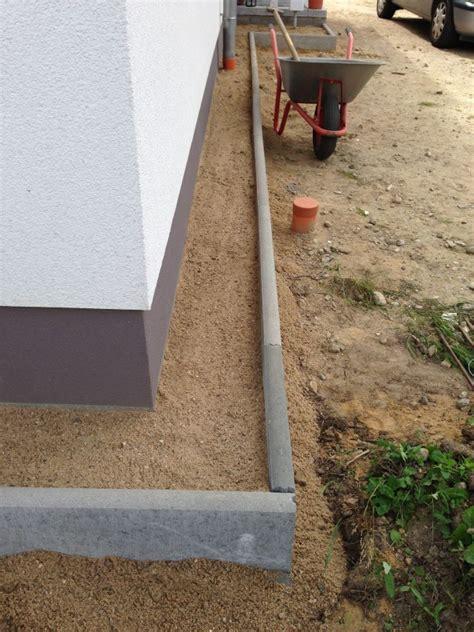 haus spritzschutzstreifen aus kies bauen baublog
