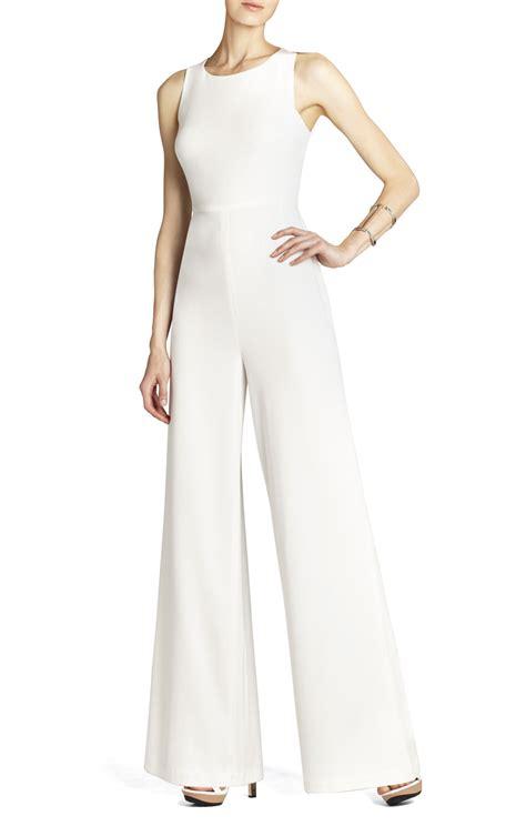 white jumpsuit for wedding bcbg wedding dress max azria bridal retro jumper