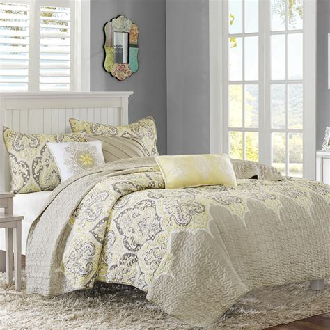 Yellow Quilts And Coverlets by Park Nisha 6 Quilted Coverlet Set Ebay