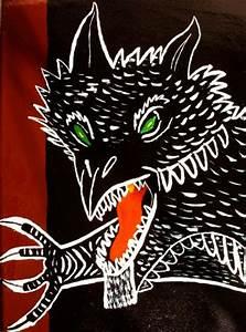 Drachen Schwarz Weiß : jogimo drache schwarz wei acrylmalerei malerei von melancholo bei kunstnet ~ Orissabook.com Haus und Dekorationen