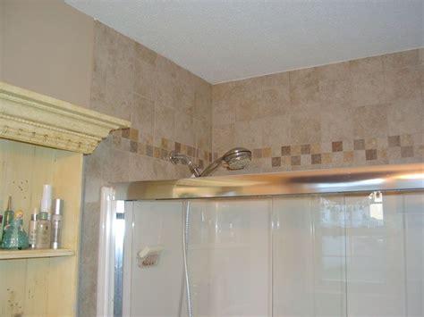 tile above tub surround tile above tub shower enclosure house ideas bathroom