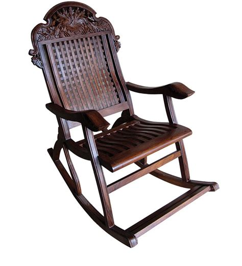 buy carved angoori design rocking chair by saaga rocking chairs rocking chairs