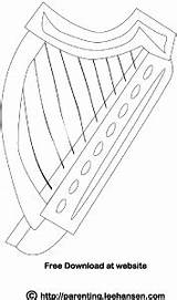 Coloring Harp Irish Celtic Printable Adult Instruments Leehansen Parenting Dance Patrick Musical Sheets Instrument Digital sketch template
