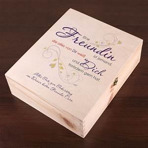 Geschenkverpackung Aus Holz Fr Die Beste Freundin