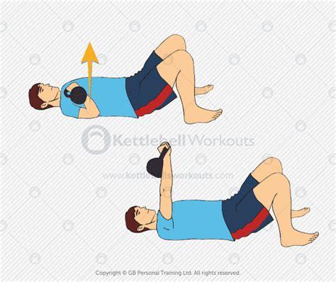 chest kettlebell press lying floor exercises exercise overhead