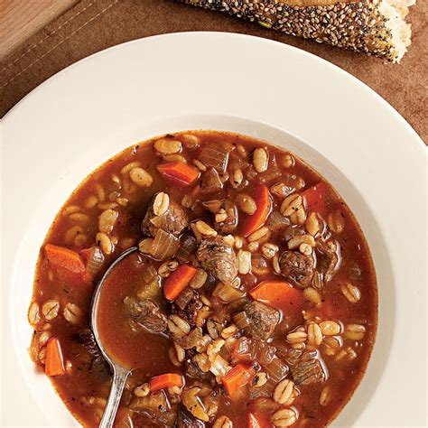 quick beef barley soup recipe eatingwell