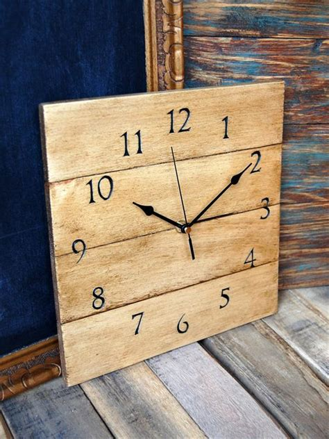 beautiful diy  wooden pallet clock pallets designs