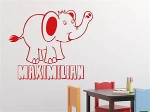Wandtattoo Elefant Kinderzimmer : wandtattoo elefant mit wunschname von ~ Sanjose-hotels-ca.com Haus und Dekorationen