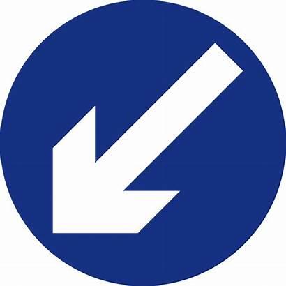 Left Keep Signs Road Sign Mandatory Mauritius