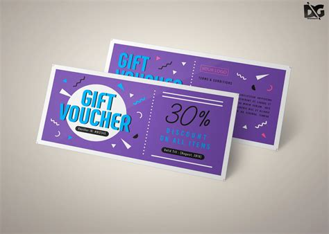 psd gift voucher card template  images card