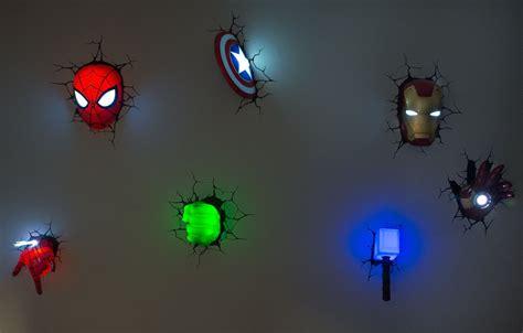 15 photos 3d wall art iron man night light