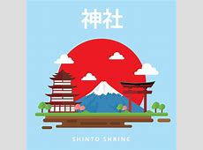 Shinto Shrine Free Vector Download Free Vector Art