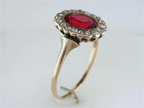 vintage 2 60ct ruby 14k gold georgian victorian engagement ring ebay