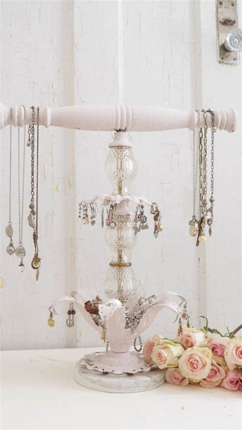 shabby chic jewellery stand 11 romantic diy shabby chic jewelry holders and hangers shelterness