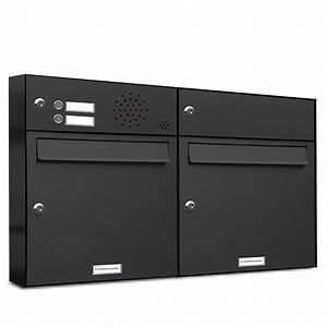 Briefkasten Mit Klingel Aufputz : 2er briefkasten anlage aufputz wandmontage ral 7016 ~ A.2002-acura-tl-radio.info Haus und Dekorationen