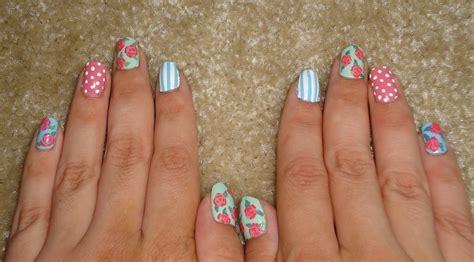 floral pattern nails patterned nail art beauty  cut