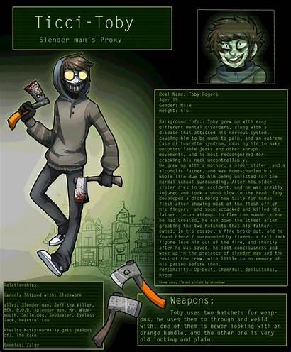 Toby Ticci Story Creepypasta Tell Proxy Characters