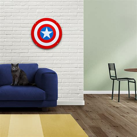captain america shield light up wall with sound