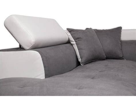 canape blanc gris canapé d 39 angle gauche convertible avec coffre blanc gris