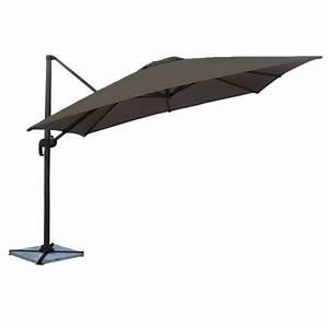 Parasol Déporté Carré : parasol d port inclinable carr 3x3 gris happy garden ~ Mglfilm.com Idées de Décoration