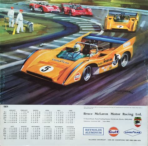 1971 McLaren Racing Calendar - Michael Turner Can-Am print