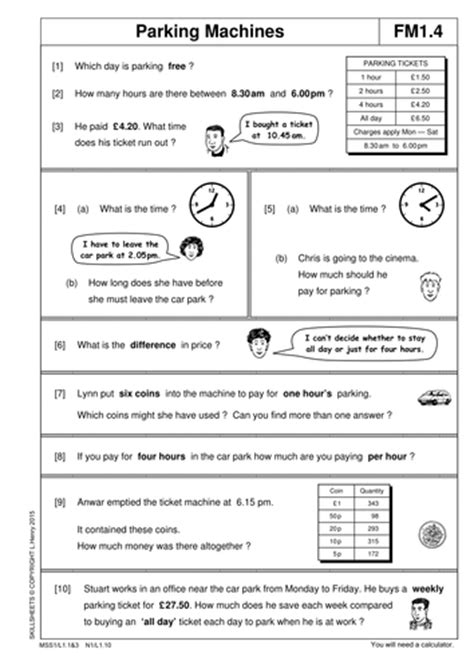 functional maths level 1 part 2 by skillsheets teaching resources tes