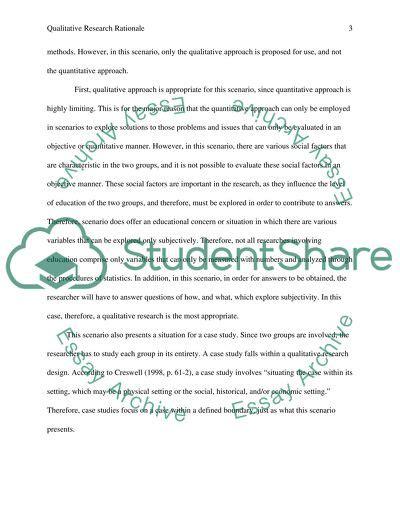 potential bias  qualitative research rationale essay