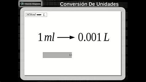 Conversion De Unidades Ml A Litros (10.1.0)