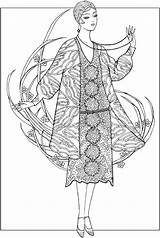 Coloring Pages Dover Adult 1920s Creative Haven Jazz Age Fashions Publications Books Sun Deco Sheets 1391 Ming Doverpublications Colouring Printable sketch template