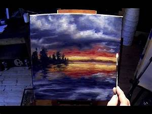 How to paint a lake at sunset. This is a free sample of my ...