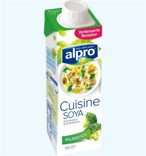 soja cuisine rein pflanzliche sahnealternative soja kochcrème alpro