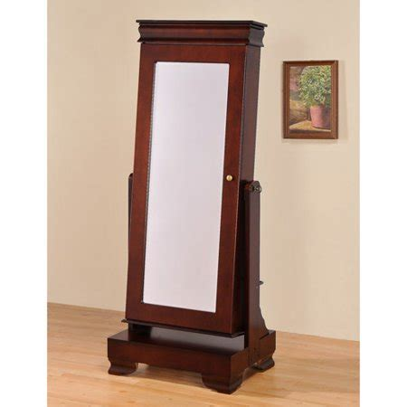 standing mirror jewelry armoire floor standing jewelry armoire with base walmart