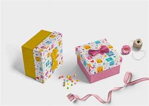 gift box label design mockup eymockup