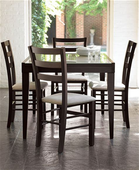 macys glass dining room table caf 233 latte dining room sets furniture macy s