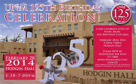 unm celebrates  birthday  university   mexico