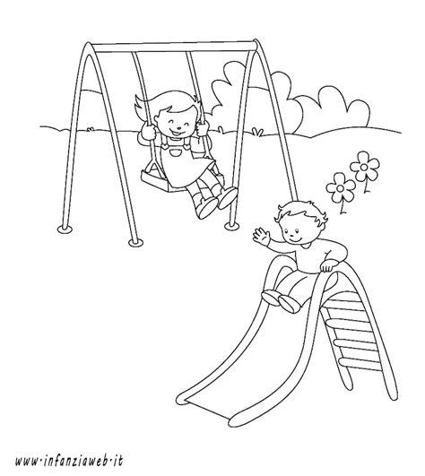 disegni di parco giochi 10 disegno parco giochi da colorare img